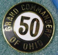 Vintage Lapel Pin~Masonic Grand Commandery of Ohio Mason 50 Years