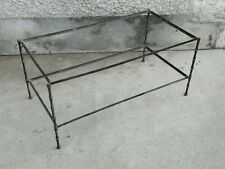 Table basse design style bambou bagues ? Laiton brass coffee