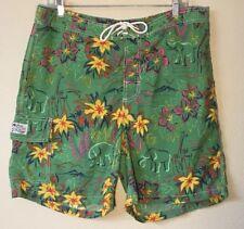 Mens Polo Ralph Lauren Swim Trunk Large Swimwear Green Tropical Elephants Floral