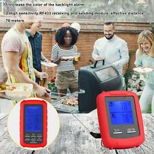 New listing Digital Wireless Barbecue Bbq Meat Thermometer Remote Grill Cooking Probe Hot