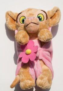 Baby Nala Purring Lion King Plush Pink Leaf Blanket Disney doll cub Stuffed toy