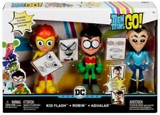 Teen Titans Go! Face-Swappers Kid Flash, Robin & Aqualad 6-Inch Figure 3-Pack