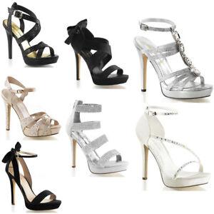 Pleaser Club Wear Glitter Strap Platform Stiletto Sandals High Heels