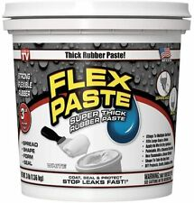 FLEX PASTE 3LBS TUB WHITE NEW SUPER THICK RUBBER PASTE SEALANT CAULK STOPS LEAKS