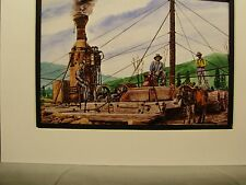 Steam Power  Logging Steam Donkey   Color Artist Illustrated Archives Museum