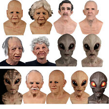 Latex Old Man Mask Male Disguise Realistic Masks Cosplay Costume Halloween Party