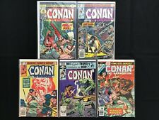 CONAN THE BARBARIAN Lot of 5 Marvel Comic Books - #50 102 109 128 A2!