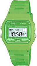 casio quarzuhr dial digitalanzeige und resin-armband kratzfest, grün
