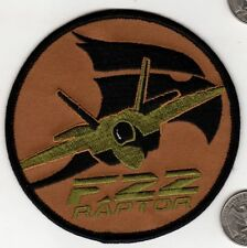 US NAVY AIR FORCE F22 RAPTOR FIGHTER WING SQUADRON Patch AIRCRAFT CLOTH BADGE