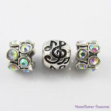 Treble Clef Notes Music Bead Gift Set fit European Charm Bracelet