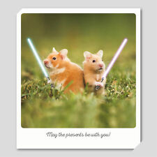 Hamster Star Wars - Small Animal Polaroid Birthday Card