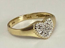 14k yellow Gold Women's Ring  With Diamond