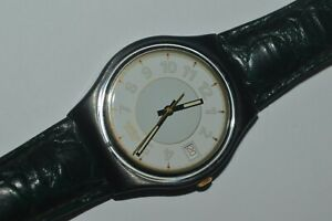 Vintage Swatch Watch GX409 GEORGE 1992 Unisex Swiss 34mm Quartz Original Plastic
