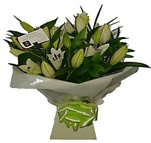 FRESH REAL FLOWERS  Delivered Choice Lily Bouquet Free Flower Delivery