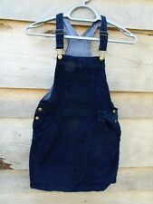KIDS Blue Soft Cord Pinafore Dress Age 11-12 by Lily&Dan (M33)