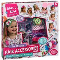 Lilac Rose Créatif Artisanat Enfants Ultimate Cheveux Accessoires Salon Gift Set