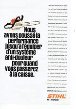 Publicité Advertising 018  1995  tronçonneuse  Quickstop Stihl