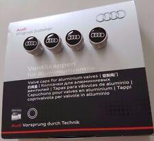 4 Stück original Audi Zubehör Ventilkappen Kappen für Aluminiumventile Ventile
