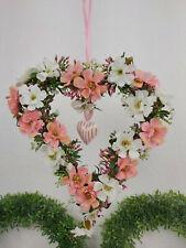 🌹1X Fensterdeko 30cm, Blumen Herz Kranz, Dekohänger Fensterhänger Shabby Chic