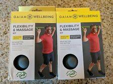 (2C2)  2 Gaiam Wellbeing Flexibility & Massage Kits free shipping New