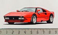 Sticker / Aufkleber, Ferrari 288 GTO rot