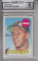 1969 Topps #545 Willie Stargell PIRATES GAI 8 NM-MT Z15251 - GAI NmMt 8