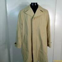 TOWNCRAFT Vtg Polyester RAINCOAT Rain Trench Coat Mens 42L 42 Long Crem