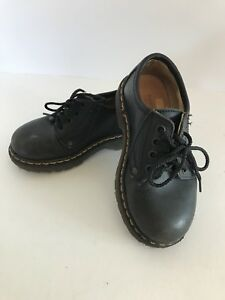 Nordstrom Toddler Boy's Black With Lace Leather Shoes - US Size 10.5/ 27