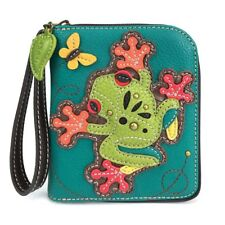 NEW CHALA TURQUOISE TREE FROG ZIPPERED WALLET