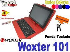 """FUNDA  CON TECLADO TABLET Woxter PC101 10.1"""" KEYBOARD 10 PULGADAS COLORES"""