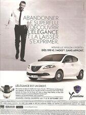 publicité 2011  Lancia Ypsilon & Vincent Cassel