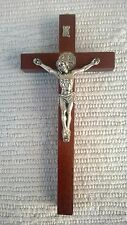 ST Saint Benedict Wall Hanging cross crucifix made of wood 6.3''