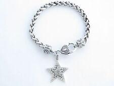 Star Clear Crystal Fashion Chain Bracelet Jewelry