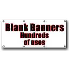 BLANK PVC BANNER 1.5m x 710mm WITH 8 EYELETS Great for markets **WATERPROOF**