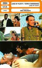 FICHE CINEMA : LAND OF PLENTY/TERRE D'ABONDANCE - Williams,Diehl,Wenders 2004