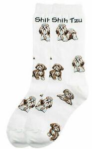 1 Pair Shih Tzu Dog Design Socks - Ladies Mens Girls Boys