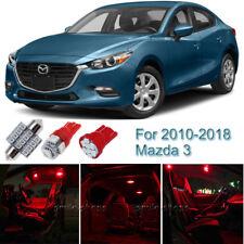7pcs Red Interior LED Light Package Kit For 2010-2018 Mazda 3 Sedan Hatchback