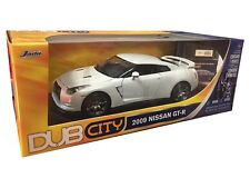 2009 NISSAN GT-R DIE CAST MODEL 1/18 WHITE BY JADA 92194