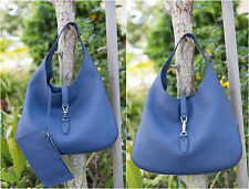 ✨❗️ Gucci  $2990 Jackie Soft Leather Hobo in Caspian Blue 362968 Pouch Authentic