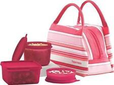 New Tupperwa Spring Surprise Pink Ladies Lunch Set Bag, 450ml, 500ml, 160ml Bowl