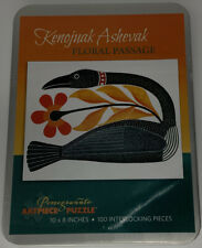 POMEGRANATE Artpiece Puzzle Kenojuak Ashevak Floral Passage 100 Pieces Tin NEW