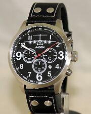 Fliegeruhr A400M Chronograph Armbanduhr Transportflugzeug Herren günstig Uhr OVP