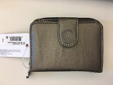 Kipling New Money Deluxe Wallet, Pewter Croc Metallic One Size