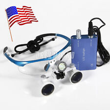 USA* LED HeadLight Lamp+Dental Surgical Medical Binocular Loupes 3.5x420mm NBL-A