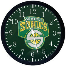 Seattle Super sonics Black Frame Wall Clock Nice For Decor or Gifts W294