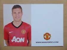 2012-13 Nemanja Vidic Unsigned Man Utd Club Card (9704)
