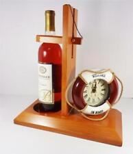 NAUTICAL WELCOME ON BOARD RING CLOCK & NAVY YARD ARM WINE HOLDER SAILING BOAT