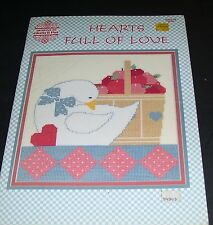HEARTS FULL OF LOVE COUNTED CROSS STITCH PATTERN BOOK #59 PAT & GLORIA 1988