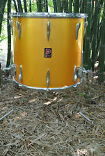"70's PREMIER 16"" FLOOR TOM POLYCHROMATIC GOLD for YOUR KEITH MOON DRUM SET! B871"