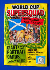 TOPPS WORLD CUP 1990 SUPERSQUAD SCOTLAND THE BRAVE GIANT STICK UP PORTRAIT CARDS